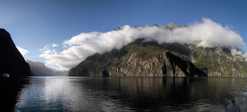 Mountains in the Milford Sound Stock Photography