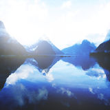 Mountains Milford Sound Travel New Zealand Concept Stock Image