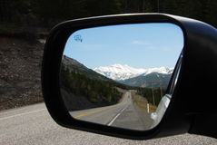 Mountains in the mirror Royalty Free Stock Photos