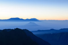 Mountains in the mist Royalty Free Stock Images
