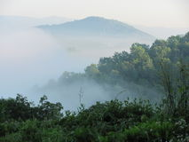 Mountains in the  mist. Beautiful early morning in the mountains of north carolina Stock Image