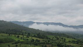 Mountains and mist stock video footage