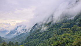 Mountains in mist Royalty Free Stock Images