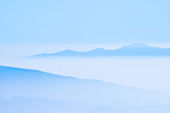 Mountains in the mist. Layer of mountains in the mist Royalty Free Stock Images