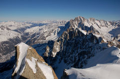 Mountains from Mont Blanc Royalty Free Stock Photography