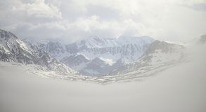 Mountains of Mont Cenis Stock Image