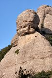Mountains in Montserrat in Catalonia of Spain in a sunny day. Very interesting shape rocks.  stock photo