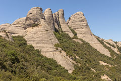 Mountains of Montserrat Stock Image