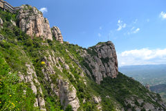 Mountains in Montserrat, Spain Stock Photo