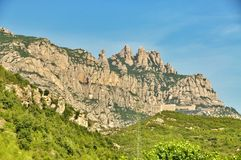 Mountains Montserrat Stock Image