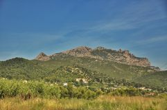 Mountains Montserrat Stock Images