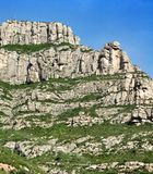 Mountains Montserrat Royalty Free Stock Image