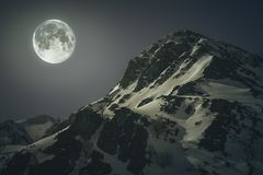Mountains with the moon. royalty free stock images