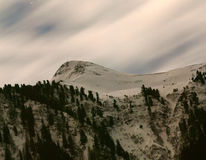 Mountains in moonlight Stock Photography