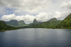 Mountains Moorea French Polynesia Stock Image