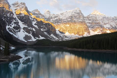 Mountains and moraine lake Royalty Free Stock Photos