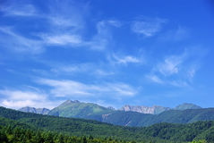 Mountains in the morning Royalty Free Stock Photos