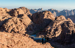 Mountains morning landscape near of Moses mountain, Sinai Egypt Stock Photo