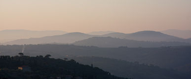 Mountains in morning mist Royalty Free Stock Photo