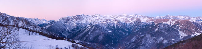 Mountains morning panorama Royalty Free Stock Images