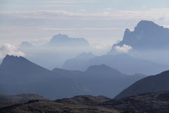 Mountains in the morning from Rosetta peak Stock Photography