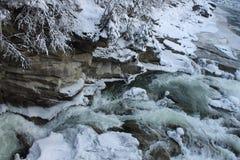 Mountains, a mountain river in winter Stock Photos