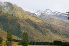 Mountains in Mt Aspiring NP. Mt Aspiring National Park, New Zealand royalty free stock photography