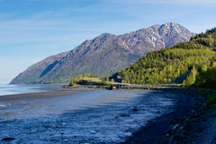 Mountains and Mudflats Stock Photos