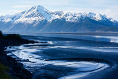 Mountains and Mudflats Royalty Free Stock Images
