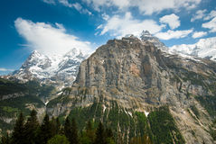 Mountains from Muerren Royalty Free Stock Image