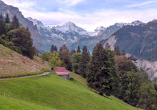 Mountains of Murren Stock Images