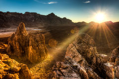 Mountains. The national park las Canadas in Tenerife Royalty Free Stock Photo