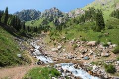 Mountains  nature landscape Central Asia Kazakhstan Royalty Free Stock Photo