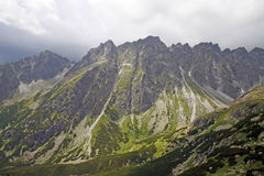 Mountains and nature in Slovakia. High mountains at Slovakia, Central Europe Stock Images