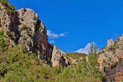 Mountains near Bejis. Castellon. Mountains near the source of the river Palancia Stock Photo