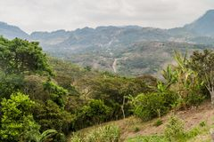 Mountains near Belen Gualcho village, Hondur. As stock image