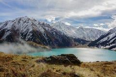 Mountains near Big Almaty Lake Stock Photos