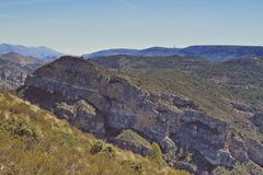 Mountains near Cortes de Pallas. Valencia. Spain Royalty Free Stock Photography