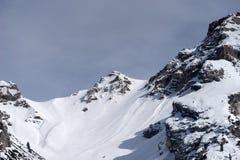 Mountains near Cortina d'Ampezzo. Dolomite Mountains near Cortina d'Ampezzo Stock Photo
