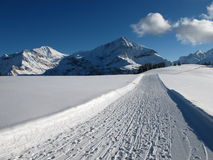 Mountains near Gstaad in the winter Royalty Free Stock Photos