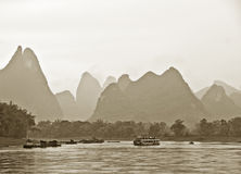 Mountains near Guilin, China Royalty Free Stock Photos