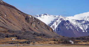 Mountains near Hofn in east fjords in Iceland Royalty Free Stock Photos