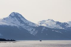 Mountains near Juneau Alaska Royalty Free Stock Photos
