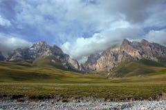 Mountains near Kel-Suu lake. Naryn region, kyrgyzstan Royalty Free Stock Photography