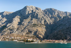 Mountains near Kotor city. Winter in Montenegro Stock Image