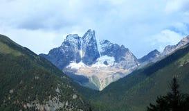Mountains near Lake Basomtso in Tibet Royalty Free Stock Image
