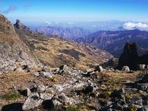 Mountains near Lalibela, Ethiopian Highlands. Near Abuna Yosef peak, the highest point in the mountains surrounding Lalibela Royalty Free Stock Photos