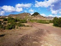 Mountains near Lalibela, Ethiopian Highlands. A part of the trek to Abuna Yosef, the highest peak in the mountains surrounding Lalibela Stock Image