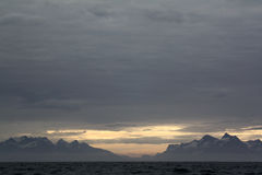 Mountains near Nuuk. In western Greenland Royalty Free Stock Images