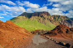 Mountains near Punto Teno Lighthouse in north-west coast of Tene Stock Photos